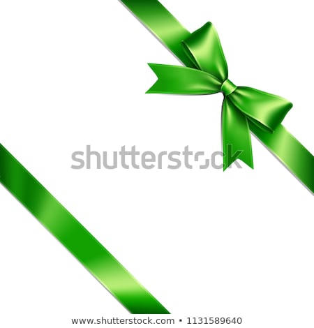 Green ribbon isolated on white Stock photo © shutswis