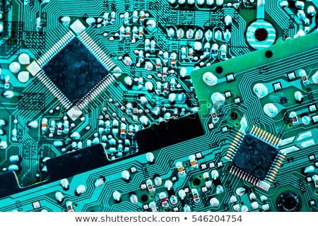 Türkiz nyáklap fényes kész dugó elektronikus Stock fotó © your_lucky_photo