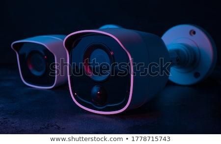 камеры безопасности темно фон безопасности белый схеме Сток-фото © constantinhurghea