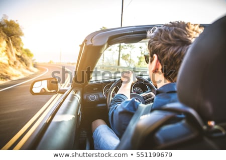 young lovers in a sports car stock photo © zurijeta