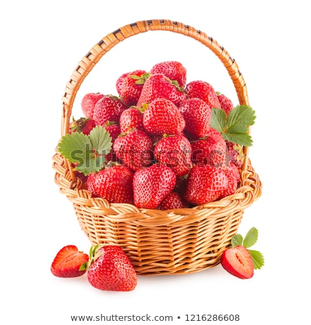 Strawberries in a basket stock photo © funix