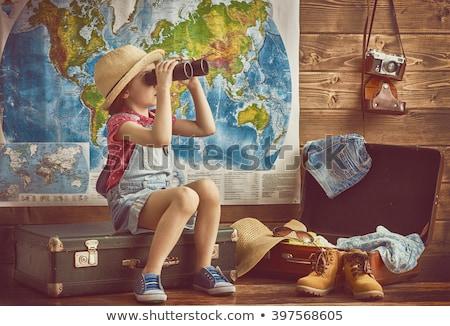 pronto · trio · viajante · saco - foto stock © choreograph