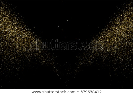 Vector glitter dust. Gold texture on a black background.  Stock photo © Fosin