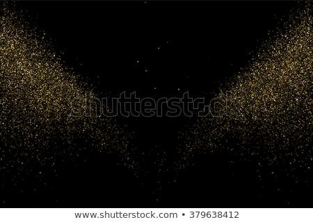 vector glitter dust gold texture on a black background stock photo © fosin