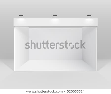 Blank trade show booth in clean white room Stock photo © cherezoff