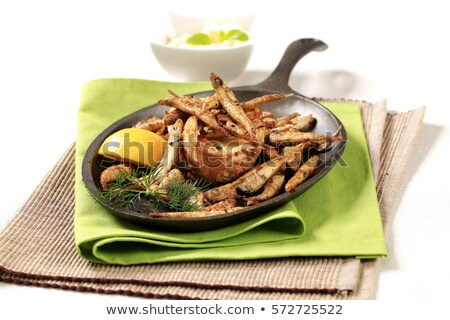 Crunchy fried sprats Stock photo © Digifoodstock