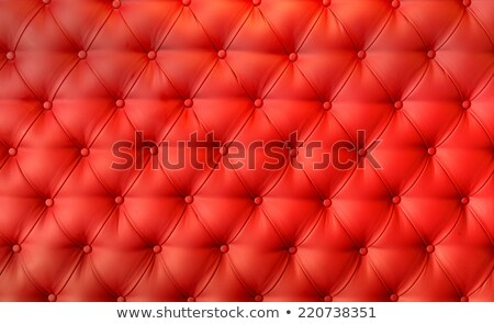 Texture of vintage red leather upholstery with buttons Stock photo © stevanovicigor