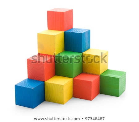 Piramide vorm spelen zand witte achtergrond Stockfoto © saharosa