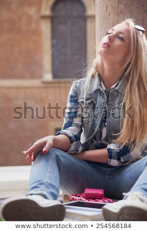 stutent girl spending some time outdoors Stock photo © Giulio_Fornasar