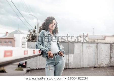Meninas cidade passeio público belo modelo luz Foto stock © bezikus