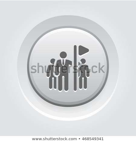 Team Building Concept Icon. Grey Button Design. Stock photo © WaD