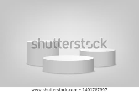 белый подиум дизайна этап Сток-фото © timurock