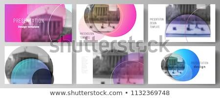 круга современных бизнеса дизайн шаблона минимализм украшение Сток-фото © sdmix