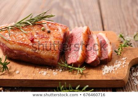 pato · mama · rústico · alimentos · cena · carne - foto stock © m-studio
