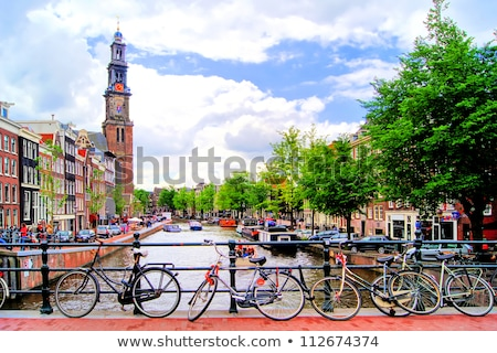 Сток-фото: мнение · старые · Церкви · Амстердам · Нидерланды · небе
