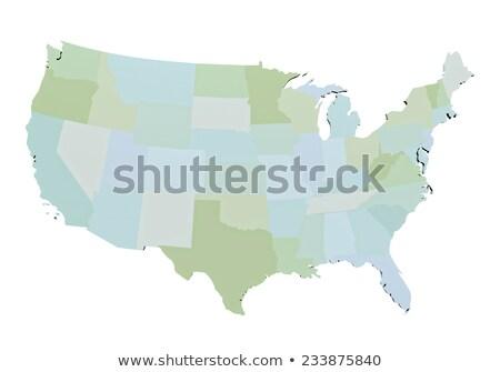 Michigan · mapa · isolado · branco · EUA · américa - foto stock © iqoncept