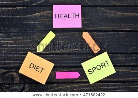 Health Diet Sport connected notes Stock photo © fuzzbones0