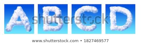 手紙c 雲 手紙 自然 孤立した 黒 ストックフォト © artjazz