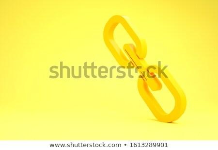Cadena enlace icono 3D 3d ilustración Foto stock © djmilic