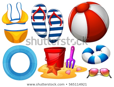 Beachwear and other beach toys Stock photo © bluering