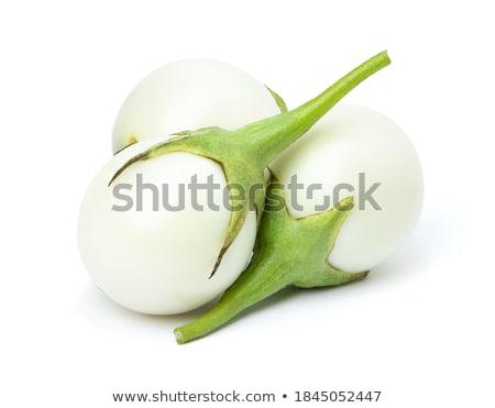 Frescos blanco berenjena berenjena alimentos Foto stock © Digifoodstock