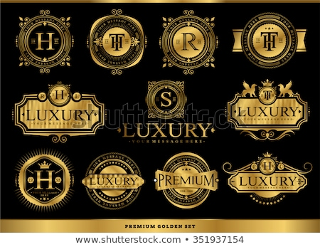 best brand golden badge and label vector design stock photo © SArts
