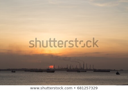 Stock photo: Sunset at mostsouthern point of continental Asia, Singapore
