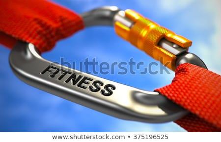 Chroom haak tekst sport witte touwen Stockfoto © tashatuvango