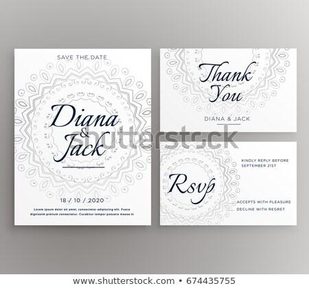 Elegáns mandala esküvő dekoráció kártya lakosztály Stock fotó © SArts