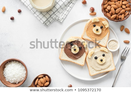 Whole wheat bread with peanut butter Stock photo © sumners