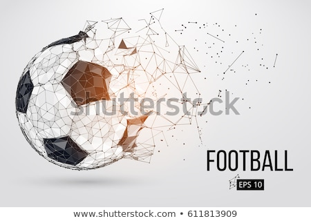 soccer ball on abstract background Stock photo © ssuaphoto