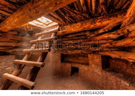 uçurum · saray · bir · muhteşem · eski · insanlar - stok fotoğraf © alexeys