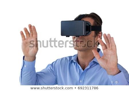 close up of businessman gesturing while wearing vr glasses stock photo © wavebreak_media