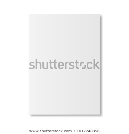 Mappa fehér brosúra vektor 3D vázlat Stock fotó © pikepicture