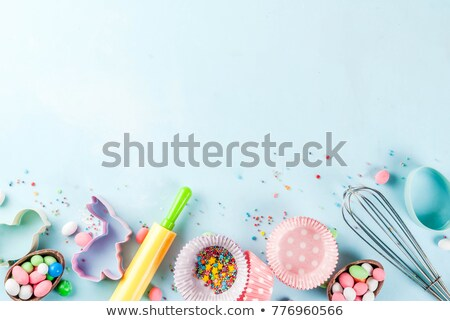Overhead view of pastry cutters Stock photo © wavebreak_media