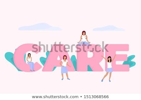 女性 · 立って · バスト · 小さな · 巻き毛 - ストックフォト © deandrobot