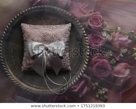 Casamento travesseiro imagem floral cerimônia de casamento festa Foto stock © vrvalerian
