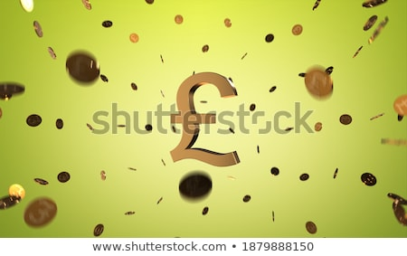 Stock photo: Gold puzzle pound sign