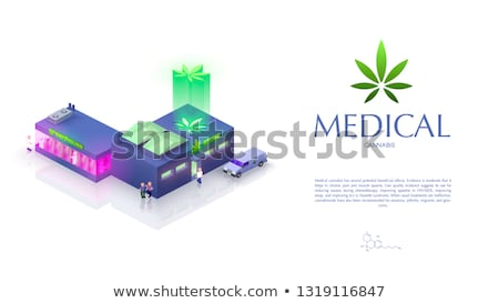 Cannabis Vector. Medical Green Plant Illustration Isolated On White Background. Cannabis Graphic Des stock photo © pikepicture