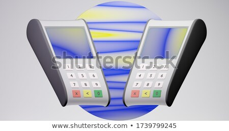 NFC - Blue Keyboard Key. 3D. Stock photo © tashatuvango