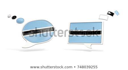 two chat icons with flag of botswana stock photo © mikhailmishchenko
