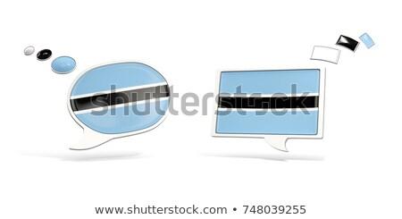 Twee chat iconen vlag Botswana vierkante Stockfoto © MikhailMishchenko