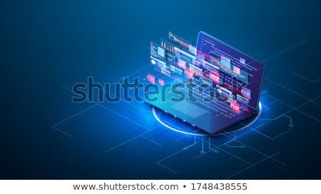 Atterrissage page portable html codage 3D Photo stock © tashatuvango