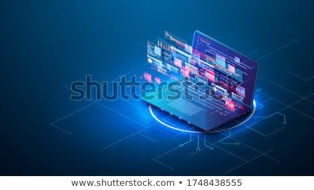 wirusowy · obrotu · laptop · sala · konferencyjna · lądowanie · strona - zdjęcia stock © tashatuvango