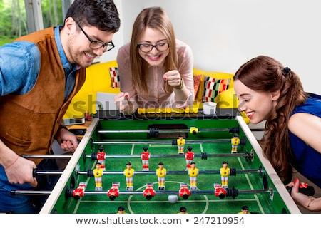 Para gry tabeli piłka nożna człowiek Zdjęcia stock © IS2