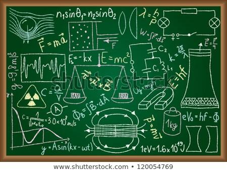Verde pizarra dibujado a mano aprender matemáticas garabato Foto stock © tashatuvango