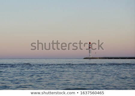 Lighthouse in Cannes at night Stock photo © akarelias