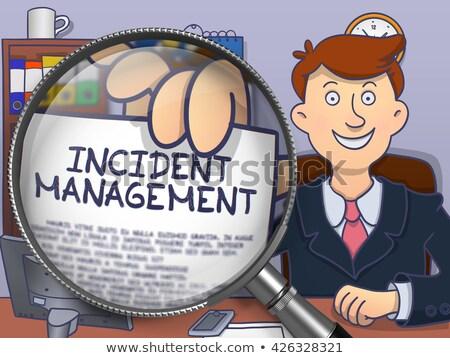 Incident Management through Lens. Doodle Style. Stock photo © tashatuvango