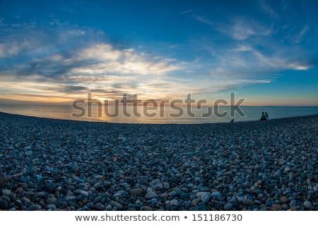 Spektakularny czarny morza wieczór świetle malowniczy Zdjęcia stock © Leonidtit