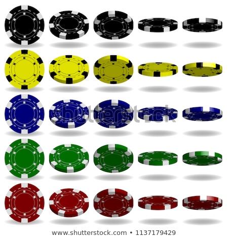 赤 · ギャンブル · チップ · 3D · 3dのレンダリング · 孤立した - ストックフォト © djmilic